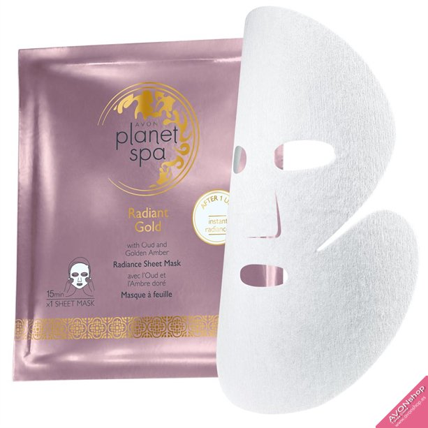 Mascarilla Tissue Planet Spa Radiant Gold