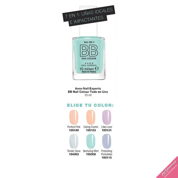 Avon Nail Experts BB Nail Colour Todo en Uno