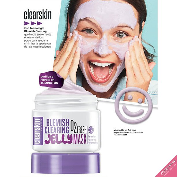 Blemish Clearing: Mascarilla en Gel para Imperfecciones O2 Clearskin