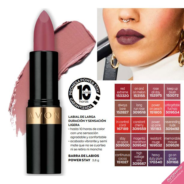 TOP VENTAS: Barra de Labios Avon True Power Stay